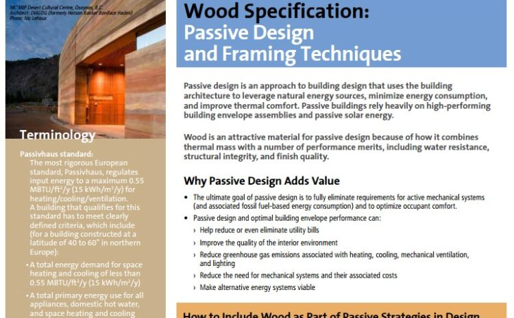 Wood Specification Green Building Rating System Guides
